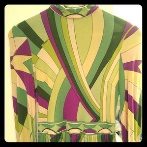 Leonard of Paris Authentic 1970s Vintage Dress